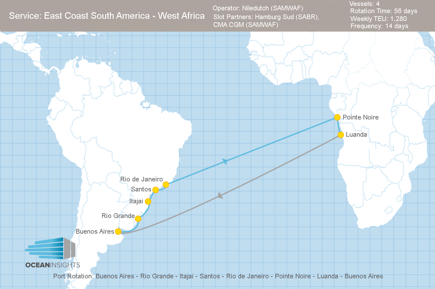 West Coast South Africa  City pictures : cma cgm closes its east coast south america west coast africa service ...