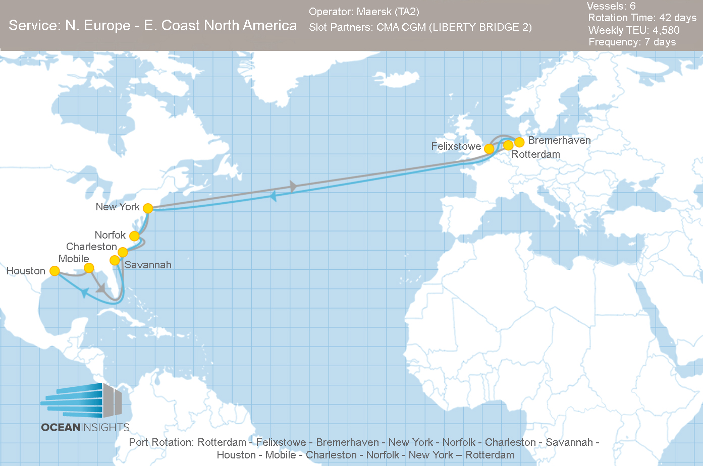 MOL, APL and HMM Close their North Europe – East Coast ...