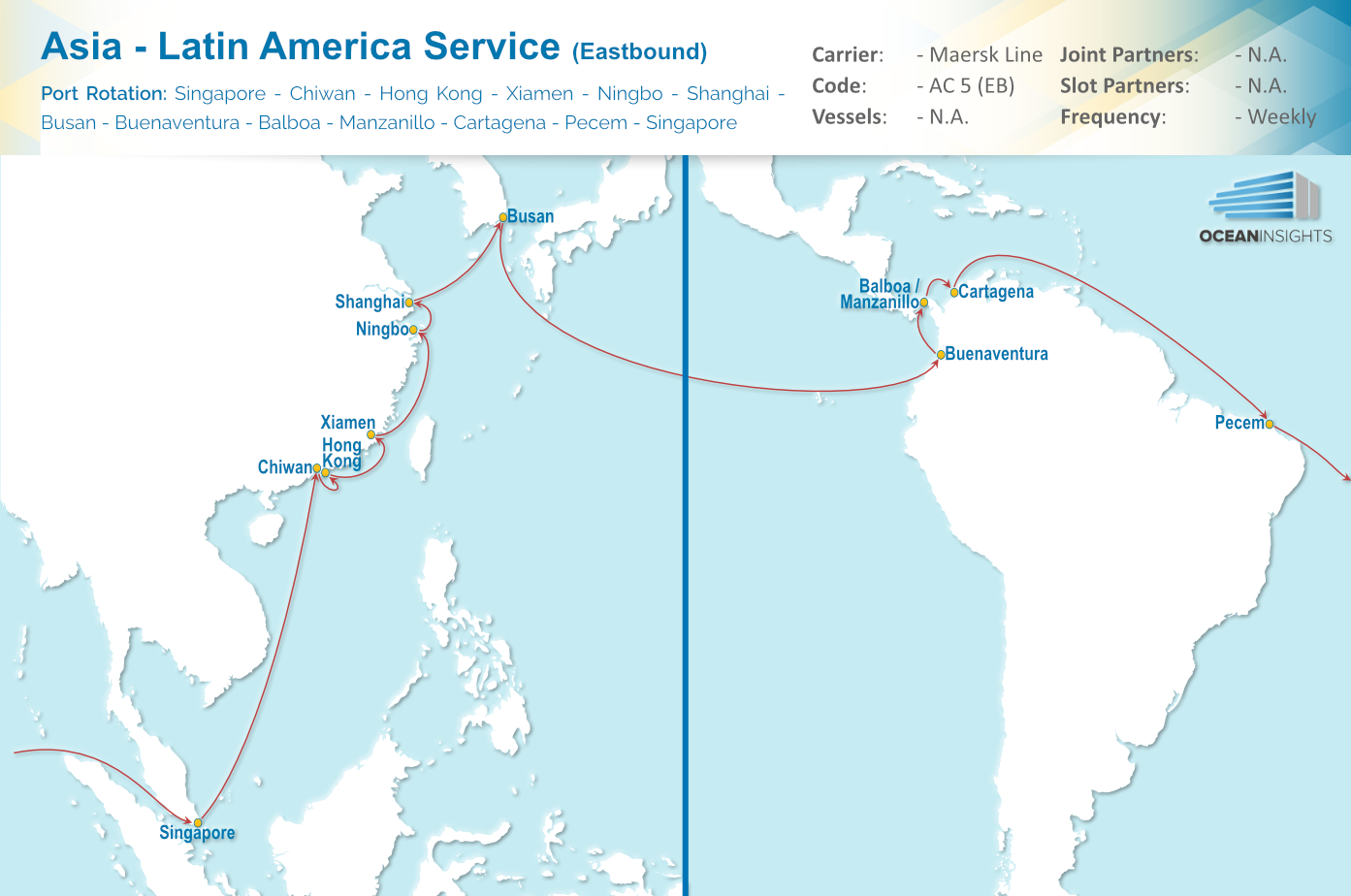 Maersk Line: New Service between Asia and Latin America (AC5)